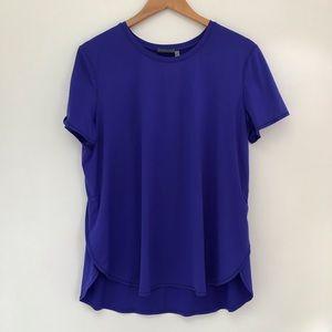 EUC Athleta Mesh Vent Blue Tee Shirt large